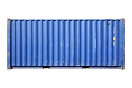 Container blue cut white background Stock Photo