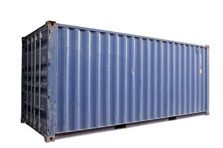 Blue container Cut white background In order to be easy to use Banque d'images - 133534509