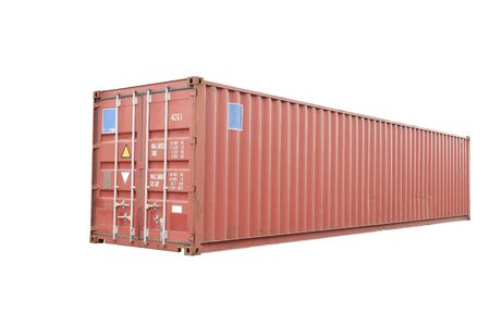 Red container cut white background In order to be easy to use Banque d'images - 133534510