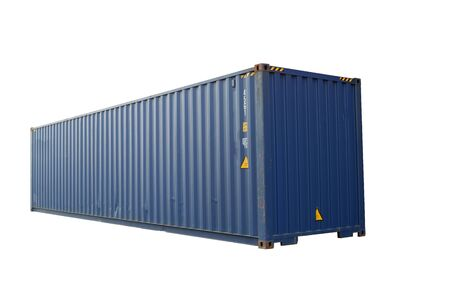 Blue container, white background for ease of use