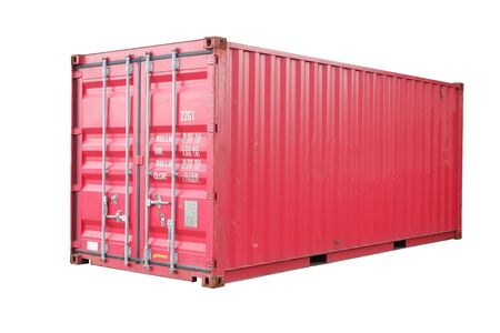 Red container cut white background In order to be easy to use Banque d'images - 133534516