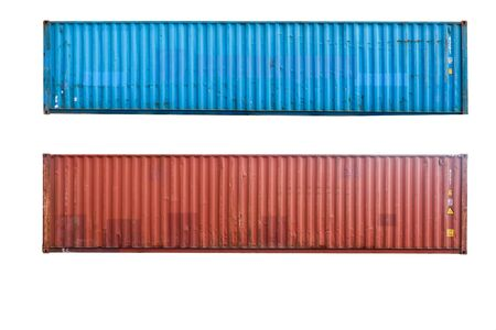 container Cut white background To be easy to use