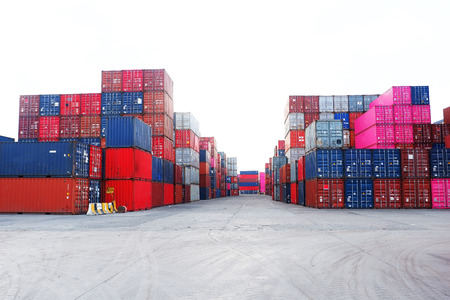Container yard For import and export Editorial