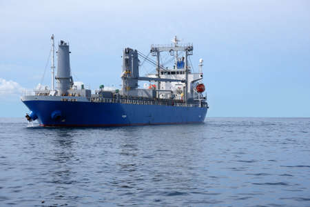 A large oil carrier in the middle of the sea