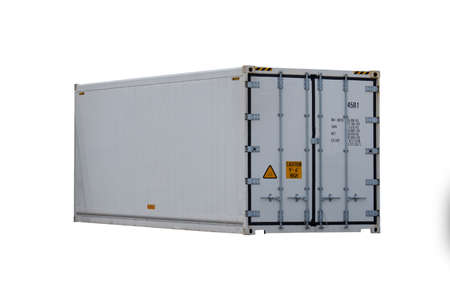 Refrigerated container Cut white background