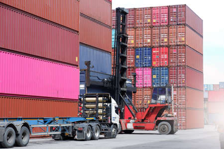 Container handling equipment in the port