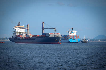 Offshore container ship for maritime export
