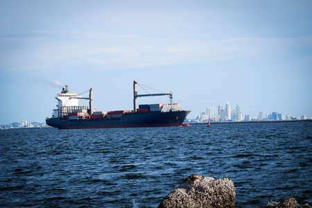 Offshore container ship for maritime export Reklamní fotografie