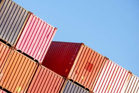 container yard Deposit yard, freight work Stock Photo