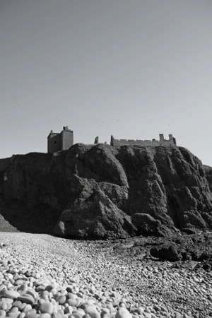 impregnable: Dunnottar castle from the Southern Beach
