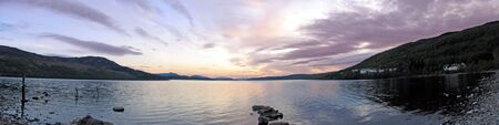 tay: Panoramic photo of Loch Rannoch Stock Photo