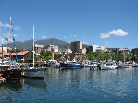 Hobart Harbour in December 2008 Stock Photo