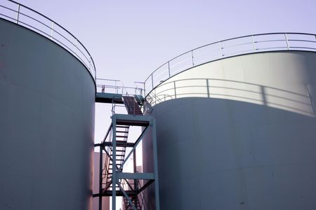 Storage tanks in Aberdeen Harbour, Scotland