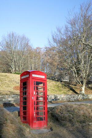 phonebox: Phonebox in Crathie, near Balmoral