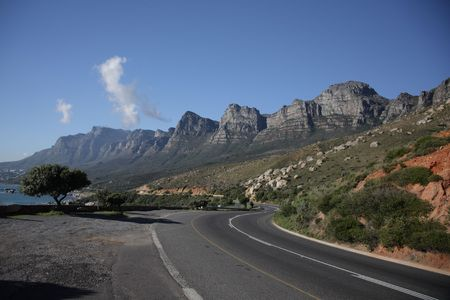 The twelve apostles - back of table top moutain - Capetown, South Africa Stock Photo