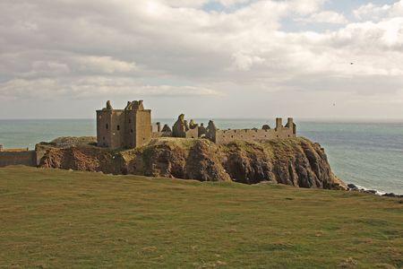 Dunnottar Castle ruins, South of Aberdeen, Scotland photo