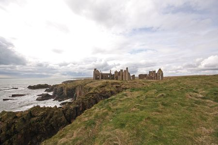 The ruins of Slains Castle, North of Aberdeen, Scotland Stock Photo