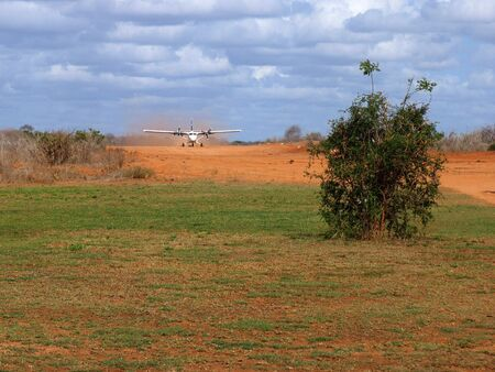 The airport at the Tsavo Game Reserve in Kenya Stock Photo - 2808539