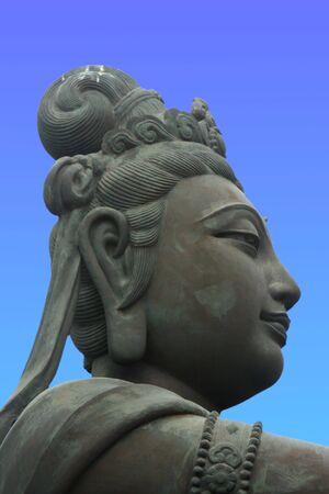 lantau: Offerer to the Giant Buddha on Lantau Island, Hong Kong