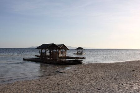 bohol: Bamboo floating house  restaurant  in Bohol, Philippines