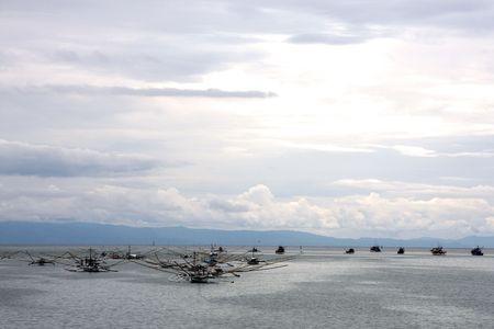 fishing fleet: Philippines Fishing Fleet on the Island of Bohol