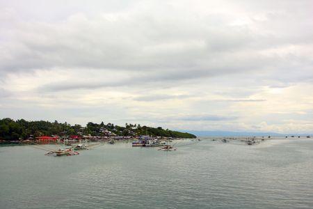 fishing fleet: photo of Philippines Fishing Fleet on Bohol Stock Photo