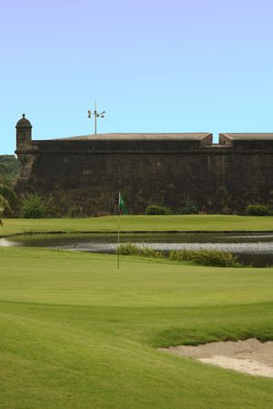 Golf Course at the Intramuros area of Manila,  Philippines photo