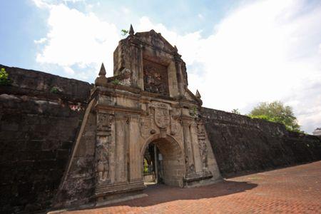 augusta: Intramuros zona de Manila, Fort Augusta, Filipinas  Foto de archivo