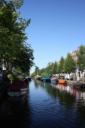 a canal in the hague photo