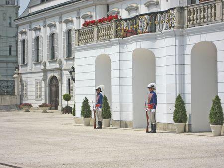 Changing Guards at Grassalkovich Palace, Budapest
