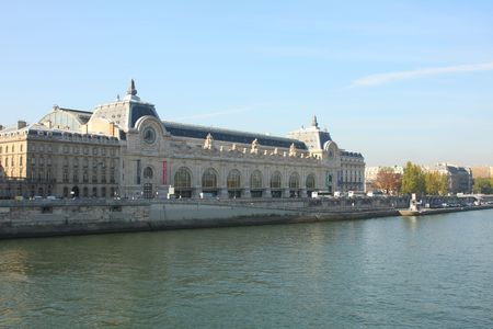 Museum de Orsay on the Seine, Paris Stock Photo - 3714616
