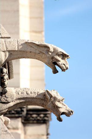 gargouille: Les gargouilles de Notre-Dame, Paris Banque d'images