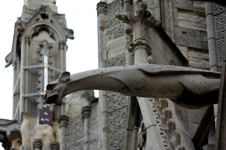 gargouilles: Les gargouilles de Notre-Dame, Paris Banque d'images