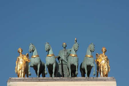 Top figures on the Arc de Triomphe du Carrousel, Paris