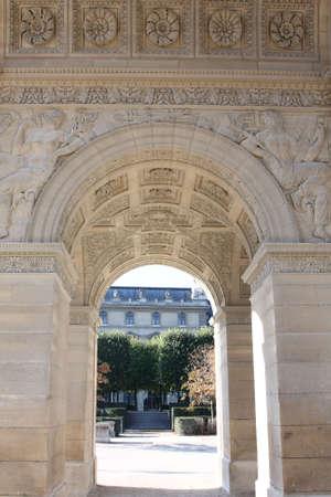 Internal detail on the Arc de Triomphe du Carrousel, Paris photo