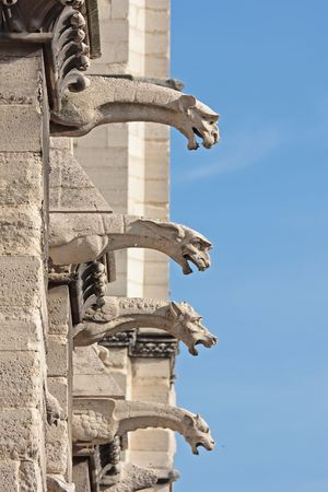 The gargoyles of Notre Dame Cathedral, paris photo