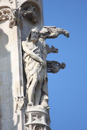 Statues of Notre Dame Cathedral, Paris photo