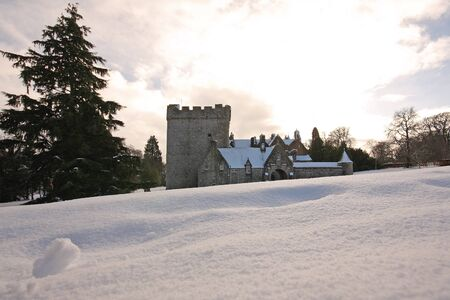 Drum Castle in the snow, Scotland Stock Photo - 4305805