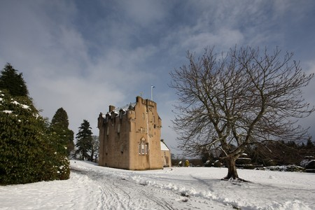 Crathes Castle in the snow, Scotland