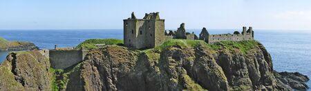 dunnottar castle: Panoramic of Dunnottar Castle Stock Photo