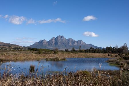 Franschhoek winelands, South Africa Stock Photo