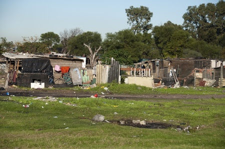 shanty: Capetown slums, South Africa Stock Photo