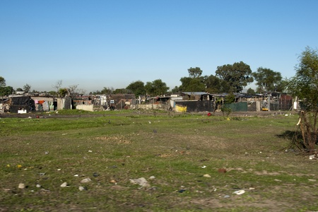 Capetown slums, South Africa Stock Photo