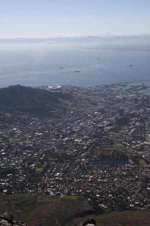 Capetown view from Tabletop Mountain photo