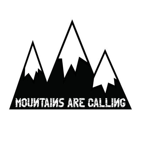 mountaintop: Mountains are calling. Mountains. Lettering.
