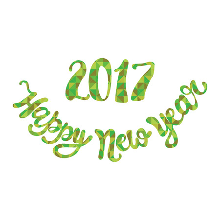 diamonds isolated: Happy New Year. Green diamonds. Isolated object on white background.