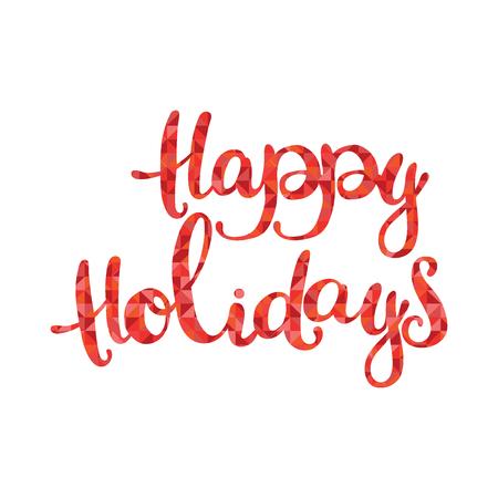 diamonds isolated: Happy Holidays. Red diamonds. Isolated object on white background.