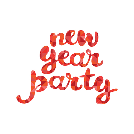 new year party: New Year Party. Isolated vector object on white background.
