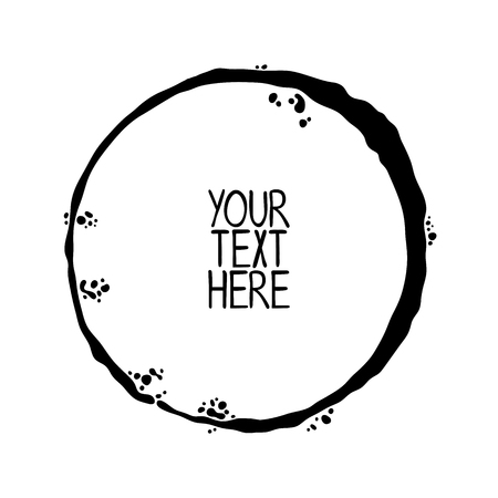 Round frame. Your text here. Isolated vector object on white background.