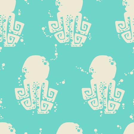 Octopus. Seamless vector pattern (background).  イラスト・ベクター素材